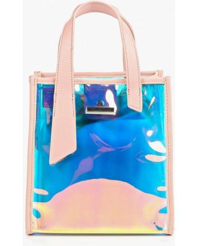Кожаная сумка через плечо розовый Dino Ricci Trend