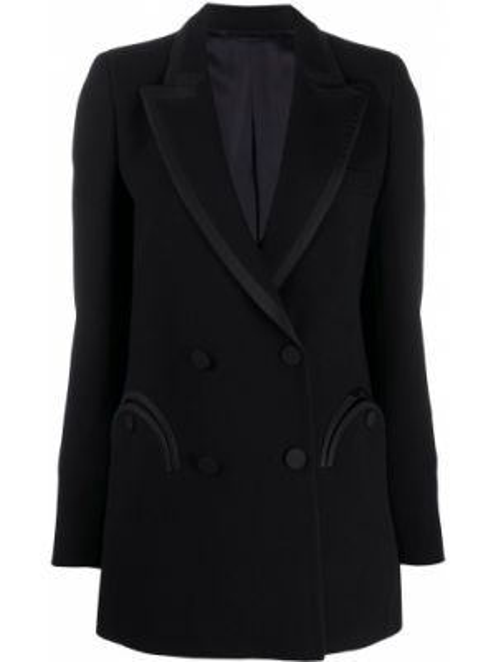 Бархатная черная куртка двубортная Blazé Milano
