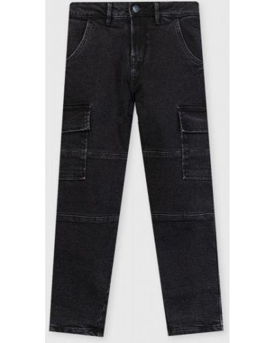 Зауженные черные джинсы-скинни с карманами Ostin