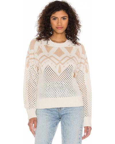Хлопковый бежевый пуловер для полных 525