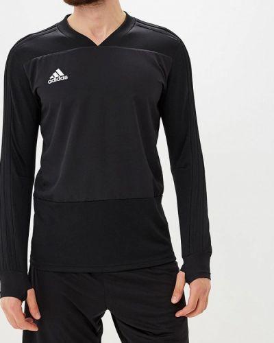 Черный спортивный лонгслив Adidas