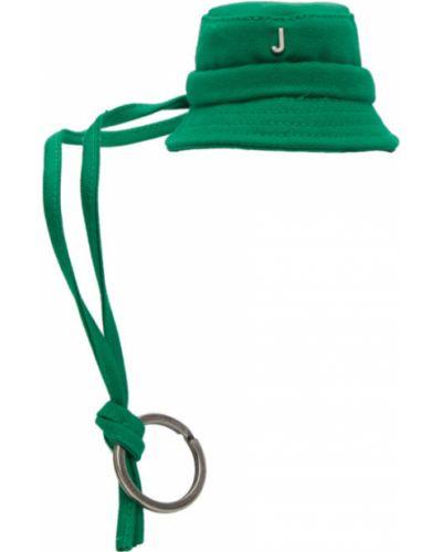 Brezentowy zielony brelok Jacquemus