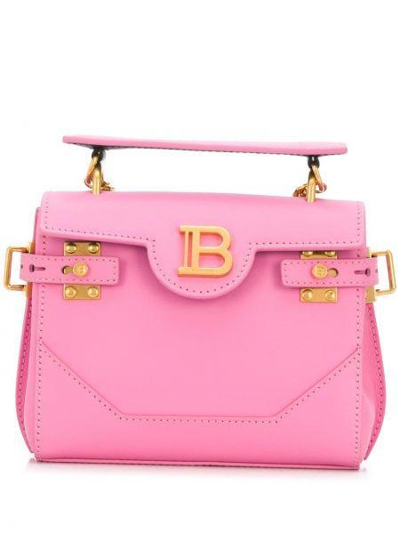 Skórzany torba z logo Balmain