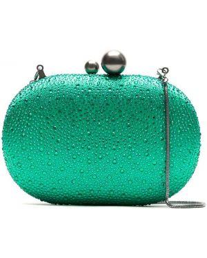 Зеленая сумка с подкладкой со стразами Isla