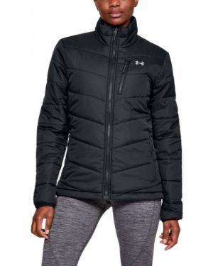 Утепленная куртка черная нейлоновая Under Armour