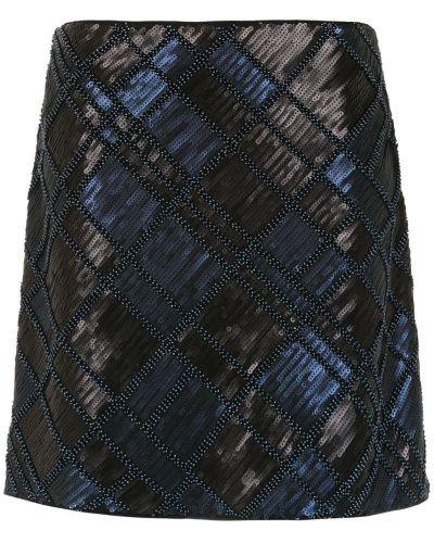 Юбка с вышивкой - синяя Tufi Duek