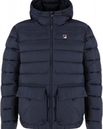 Синяя теплая куртка Fila