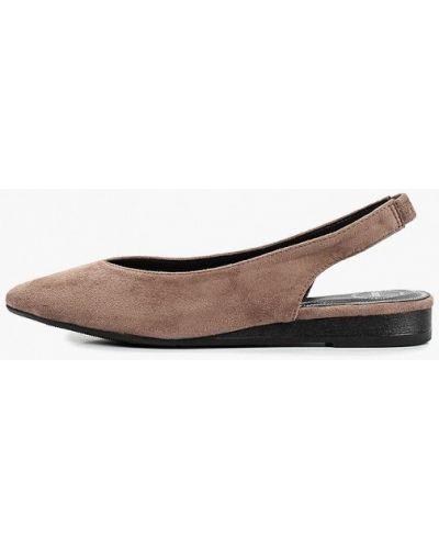 Замшевые туфли с открытой пяткой бежевый Betsy
