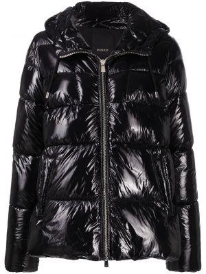 С рукавами черная куртка с капюшоном Pinko