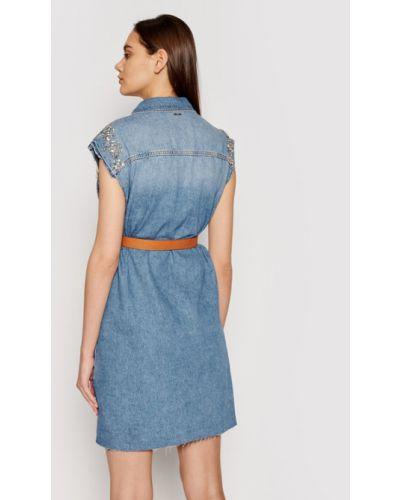 Niebieska sukienka jeansowa Liu Jo