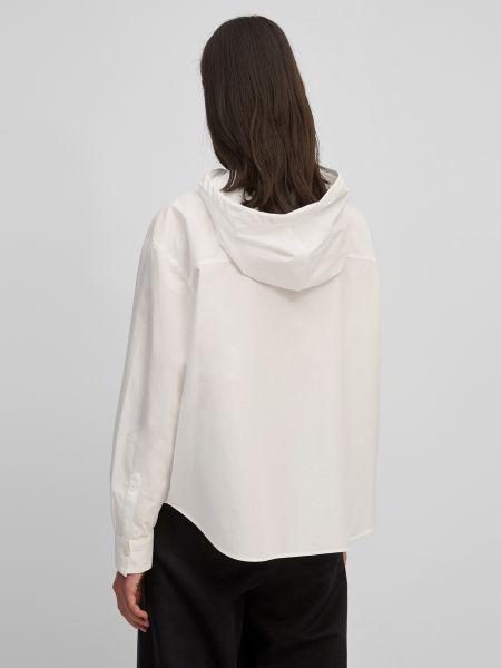 Белая блузка с капюшоном Marc O'polo Denim