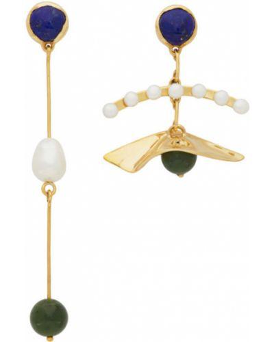 Серьги-гвоздики золотые с жемчугом Faris