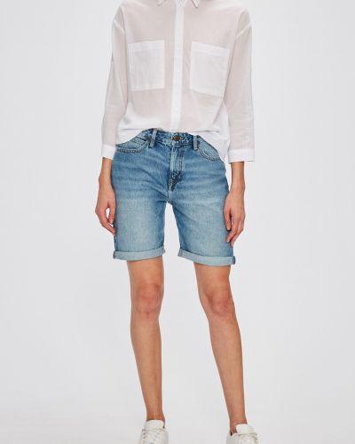 Джинсовые шорты с завышенной талией синий Lee