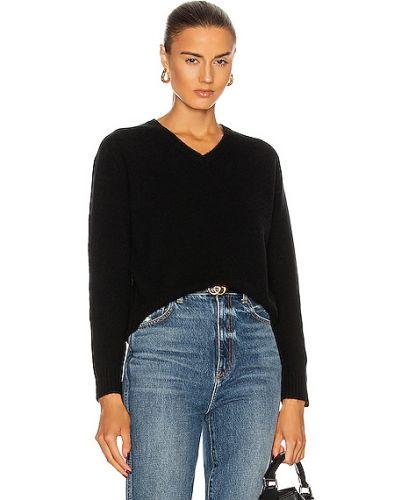 Черный шерстяной свитер милитари Nili Lotan