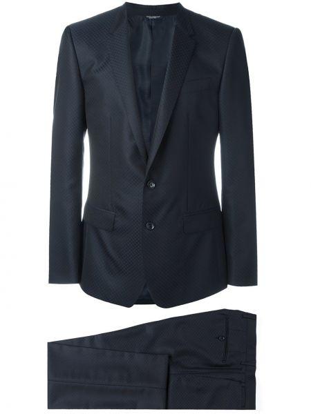 Wełniany włoski długo kostium garnitur Dolce And Gabbana