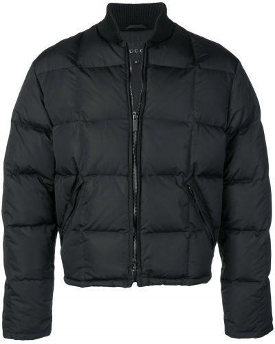 Стеганая куртка черная винтажная Gucci Vintage