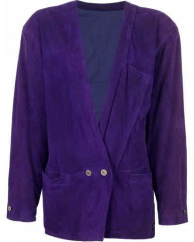 Пиджак замшевый двубортный Versace Vintage
