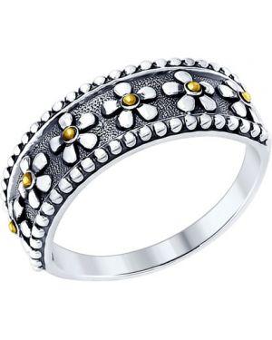 Кольцо из золота из серебра Sokolov