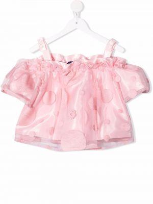 Bluzka z wiskozy - różowa Simonetta