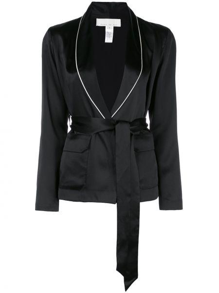 Прямой черный удлиненный пиджак Fleur Du Mal