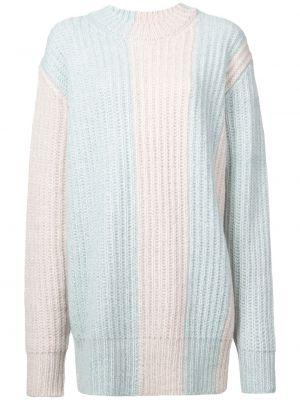 Niebieski sweter wełniany z długimi rękawami Calvin Klein 205w39nyc