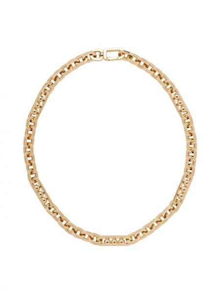 Naszyjnik metal złoto Prada