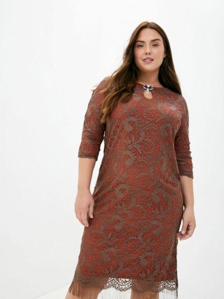 Повседневное коричневое повседневное платье Blagof