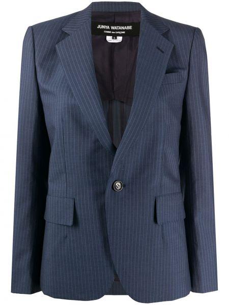 Шерстяной синий пиджак с карманами Junya Watanabe