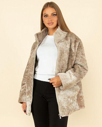 Куртка с мехом - коричневая каляев