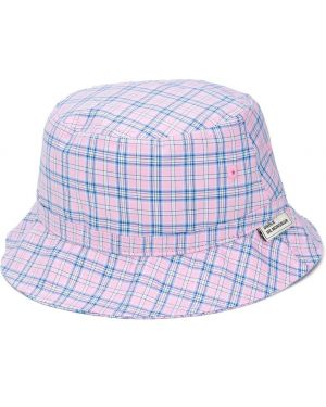 Niebieski kapelusz bawełniany z printem Drole De Monsieur