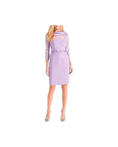 Коктейльное платье из вискозы фиолетовый Luisa Spagnoli