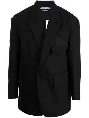 Czarny garnitur wełniany Jacquemus