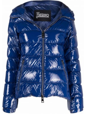 Синяя куртка с капюшоном Herno