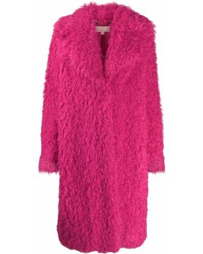 Розовое длинное пальто Michael Kors Collection