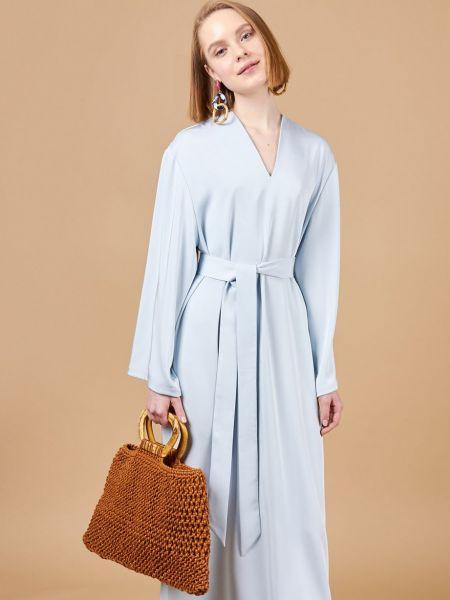 Платье макси с поясом свободного кроя 12storeez