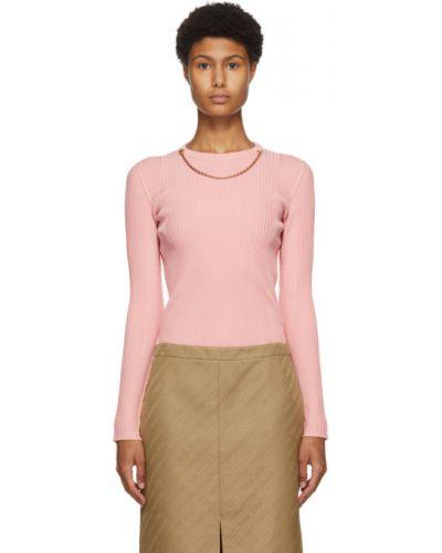 Różowy sweter z wiskozy z kołnierzem rozciągać Givenchy