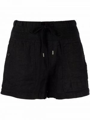 Черные шорты на шнуровке James Perse