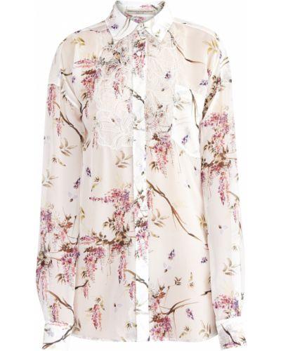 Блузка кружевная с цветочным принтом Ermanno Scervino