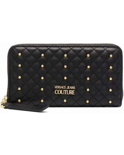 Черный кошелек из полиуретана Versace Jeans Couture
