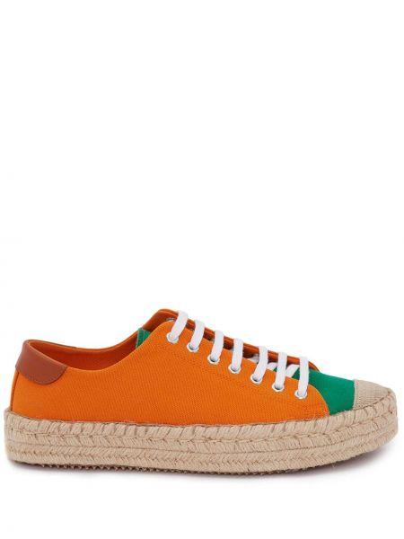 Pomarańczowe tenisówki skorzane Jw Anderson