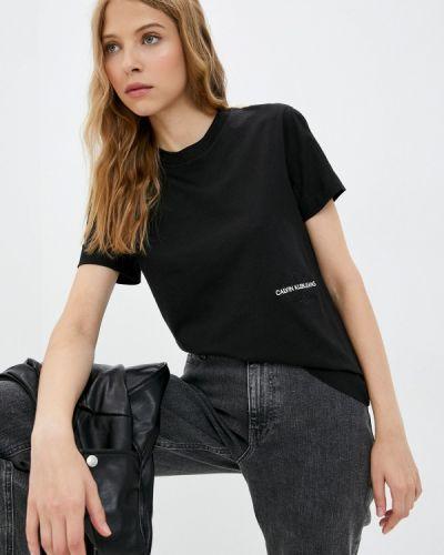 Черная джинсовая куртка осенняя Calvin Klein Jeans
