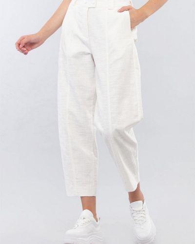 Белые брюки свободного кроя Maxa