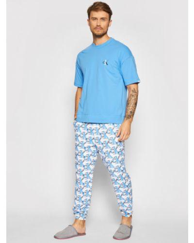 Niebieska piżama Calvin Klein