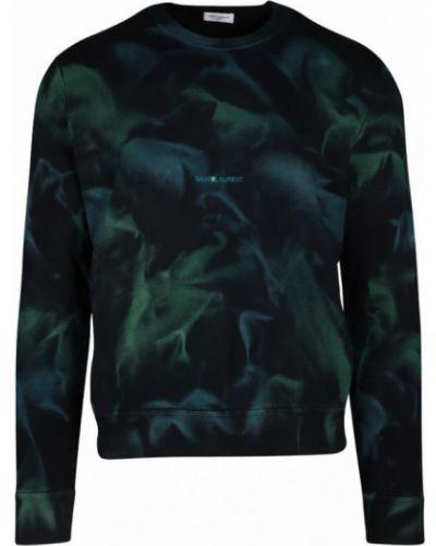 Prążkowana bluza z długimi rękawami z printem Saint Laurent