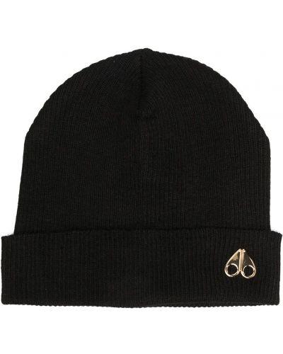 Вязаная шапка бини - черная Moose Knuckles