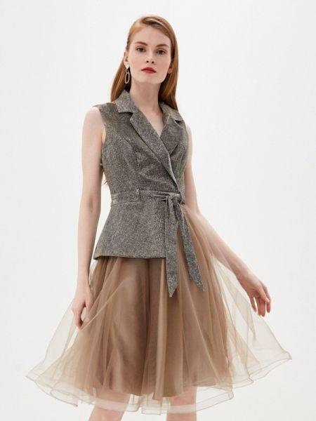 Вечернее платье весеннее золотой Milomoor