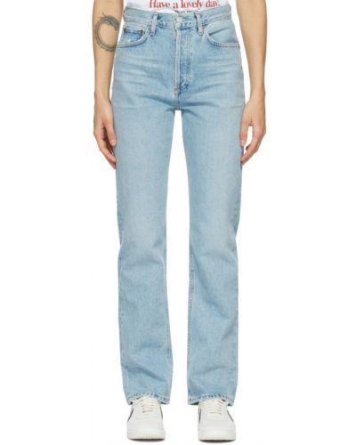 Niebieski jeansy z kieszeniami zabytkowe Agolde