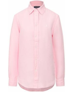 Льняная розовая рубашка Polo Ralph Lauren