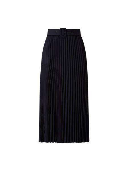 Czarna spódnica midi rozkloszowana z paskiem S.oliver Black Label