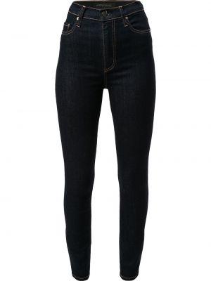Синие с завышенной талией укороченные джинсы на молнии Nobody Denim
